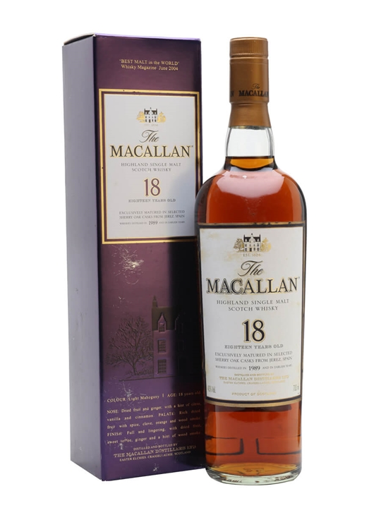 Macallan 1989 / 18 Year Old / Sherry Oak Speyside Whisky