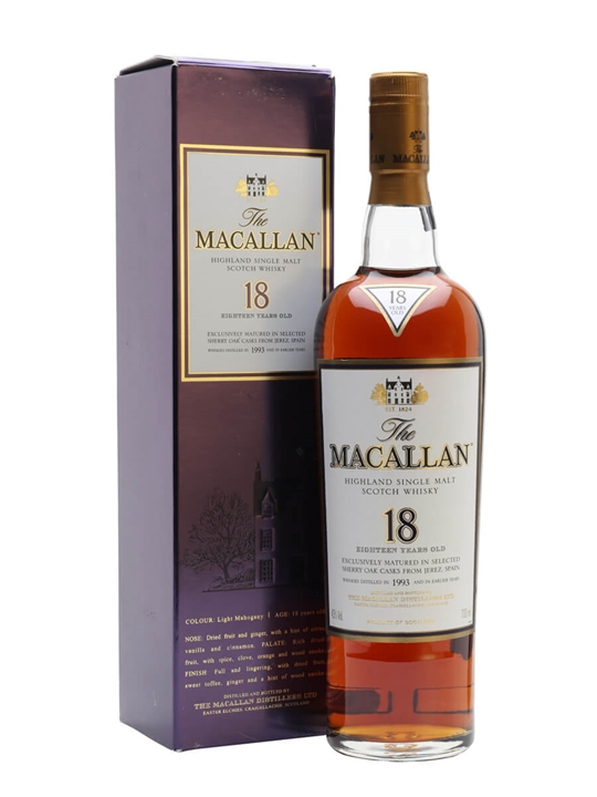 Macallan 1993 / 18 Year Old / Sherry Oak Speyside Whisky