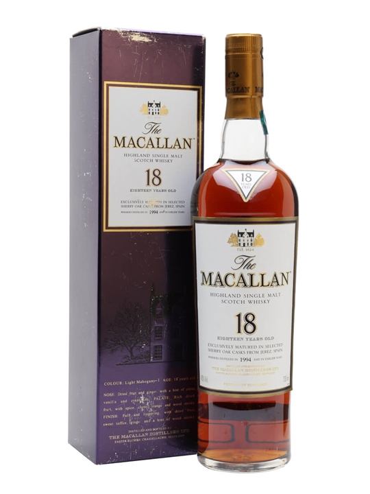 Macallan 1994 / 18 Year Old Sherry Speyside Single Malt Scotch Whisky