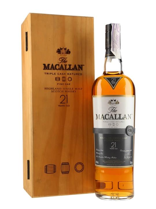 Macallan 21 Year Old / Fine Oak Speyside Single Malt Scotch Whisky