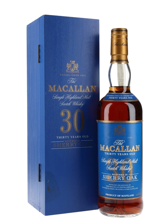 Macallan 30 Year Old / Sherry Oak / Bot.1990s Speyside Whisky