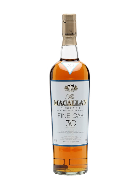 Macallan 30 Year Old / Fine Oak Speyside Single Malt Scotch Whisky