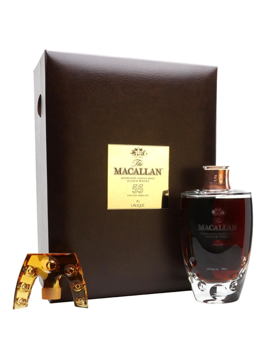 Macallan 55 Year Old Lalique Crystal Decanter Speyside Whisky
