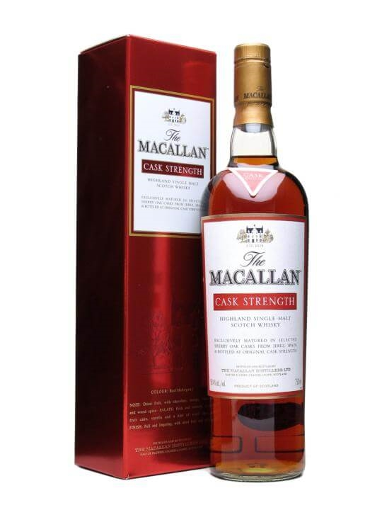 Macallan Cask Strength Speyside Single Malt Scotch Whisky