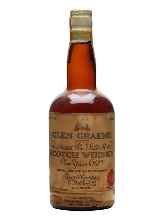Glen Graeme 10 Year Old / Bot.1940s Single Malt Scotch Whisky