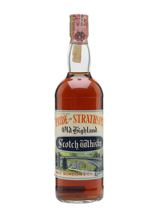 Pride Of Strathspey 1938 / Bot.1980s Highland Whisky