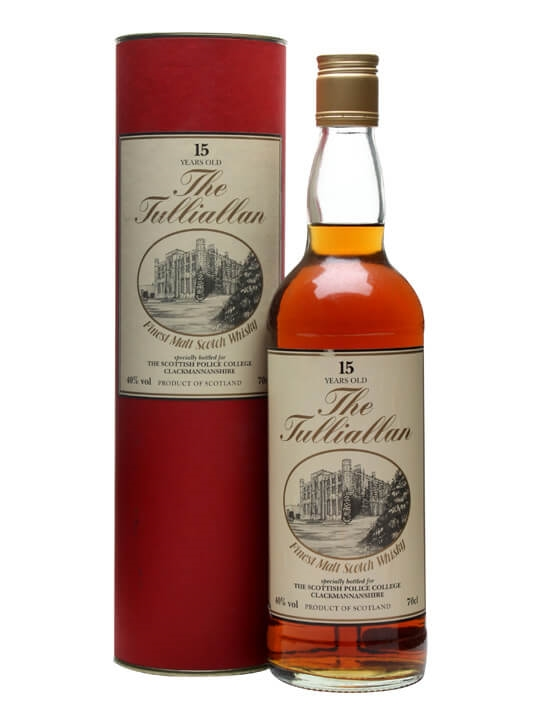 Tulliallan 15 Year Old (scottish Police College) Single Whisky