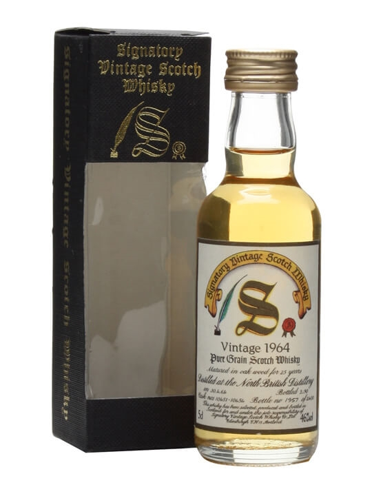 North British 1964 / 25 Year Old / Miniature / Sig Single Whisky