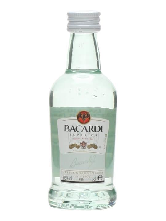 Bacardi Carta Blanca Rum Miniature