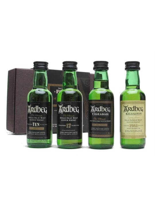 Ardbeg Peat Pack / Set Of 4 X 5cl Miniatures Islay Whisky
