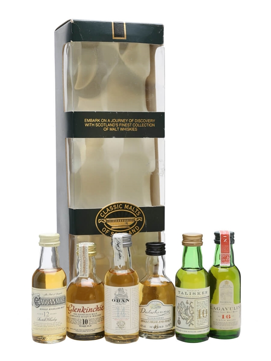 Classic Malt Miniature Gift Pack / Set Of 6 Minis Single Whisky