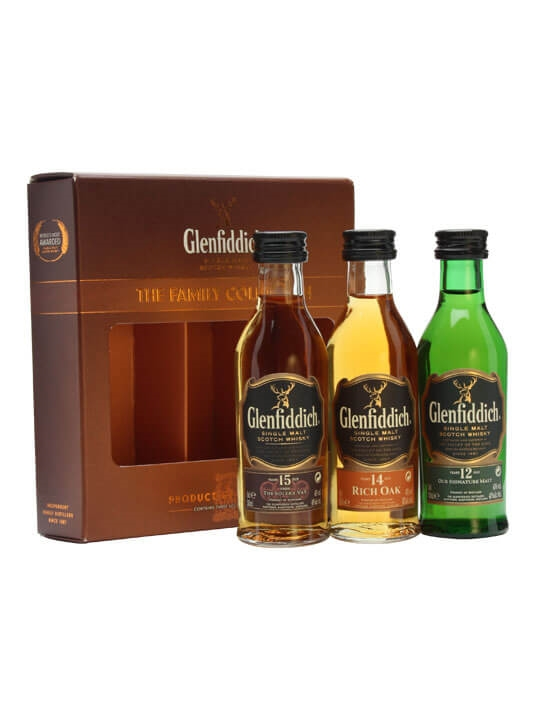 Glenfiddich Family Collection / 12, 14 & 15 Year Old / 3x5cl Speyside Whisky