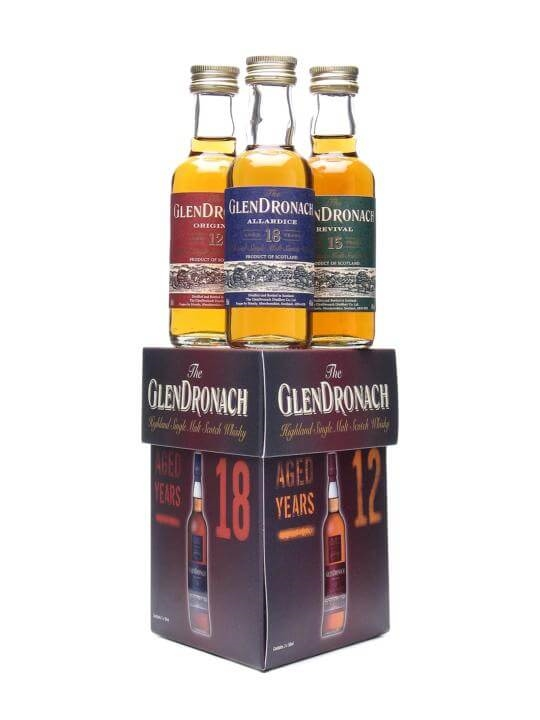Glendronach Mini Pack / 12, 15 & 18 Year Old Miniatures Speyside Whisky