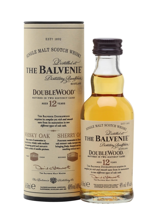 Balvenie 12 Year Old / Doublewood Miniature Speyside Whisky