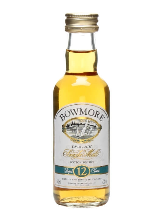 Bowmore 12 Year Old Miniature / Damaged Label Islay Whisky