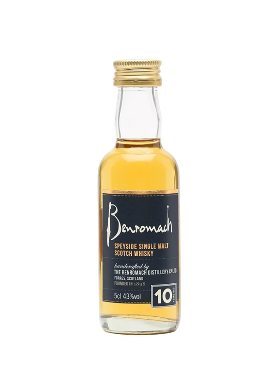 Benromach 10 Year Old Miniature Speyside Single Malt Scotch Whisky