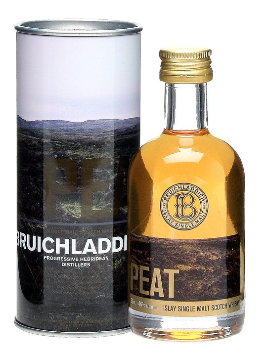Bruichladdich Peat Miniature Islay Single Malt Scotch Whisky