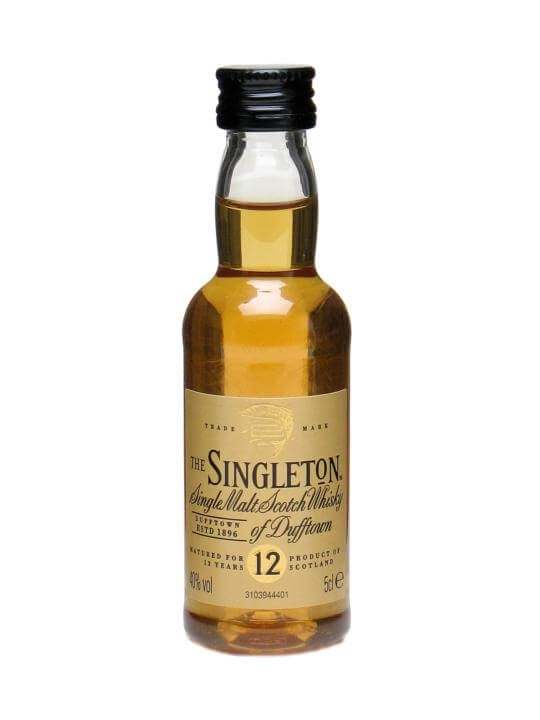 Singleton Of Dufftown 12 Year Old Miniature Speyside Whisky
