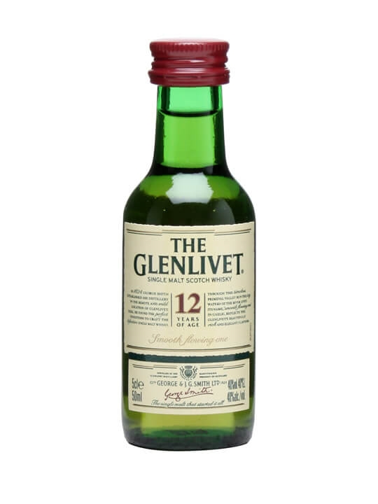 Glenlivet 12 Year Old Miniature Speyside Single Malt Scotch Whisky