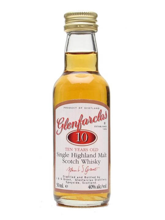 Glenfarclas 10 Year Old Miniature Speyside Single Malt Scotch Whisky