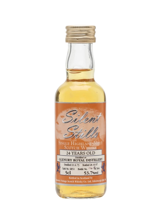 Glenury Royal 1973 Miniature / 24 Year Old / Silver Select Highland Whisky
