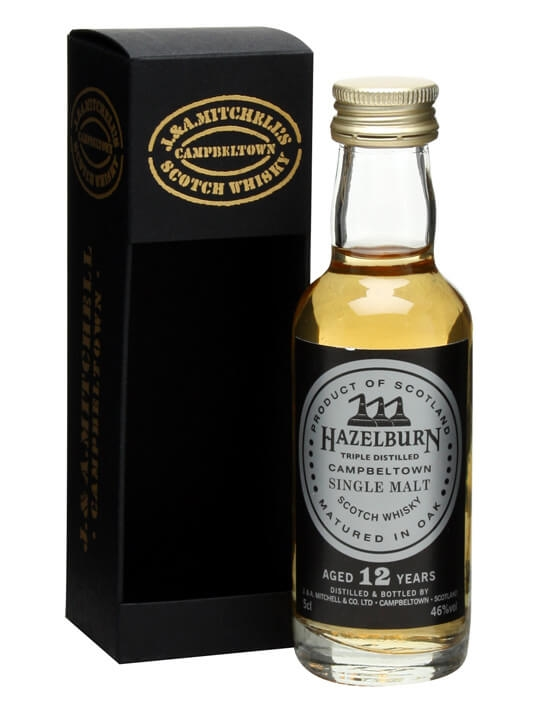Hazelburn 12 Year Old Miniature Campbeltown Single Malt Scotch Whisky