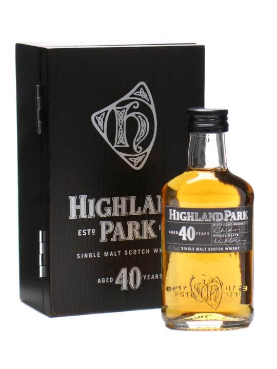 Highland Park 40 Year Old Miniature Island Single Malt Scotch Whisky