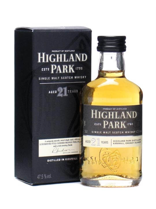 Highland Park 21 Year Old Miniature Island Single Malt Scotch Whisky