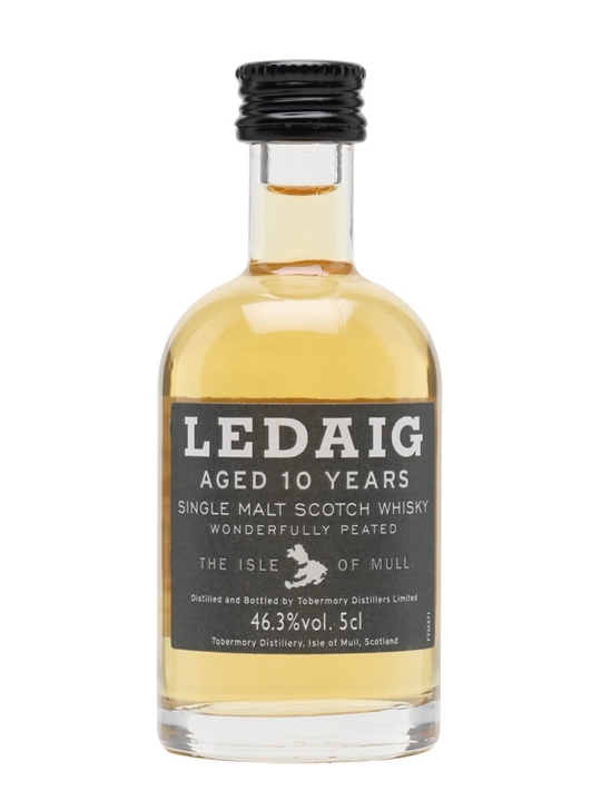 Ledaig 10 Year Old Miniature Island Single Malt Scotch Whisky