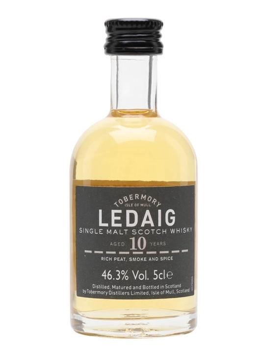Ledaig 10 Year Old Miniature Island Single Malt Scotch Whisky