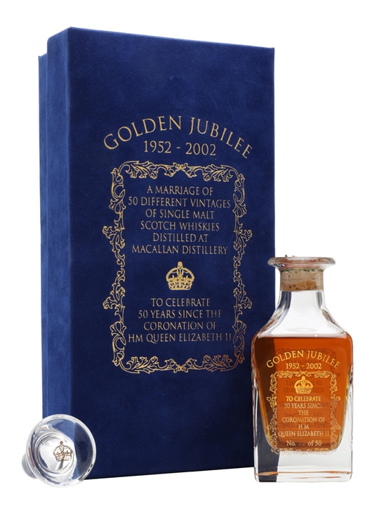 Macallan Golden Jubilee Crystal Miniature Speyside Whisky