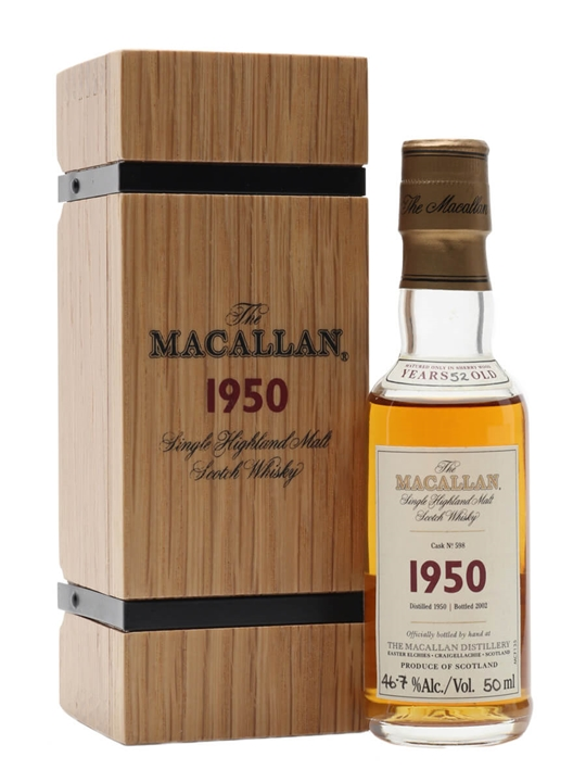 Macallan 1950 / 52 Year Old Miniature Speyside Whisky