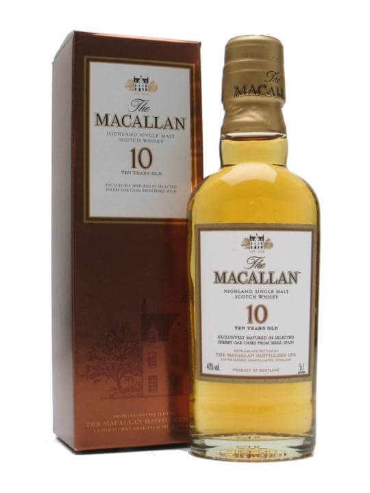 Macallan 10 Year Old / Sherry Oak Miniature Speyside Whisky