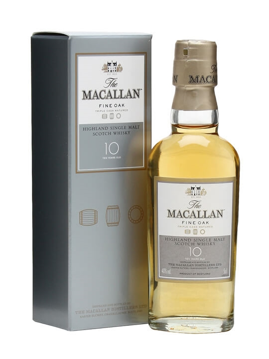 Macallan 10 Year Old / Fine Oak Miniature Speyside Whisky