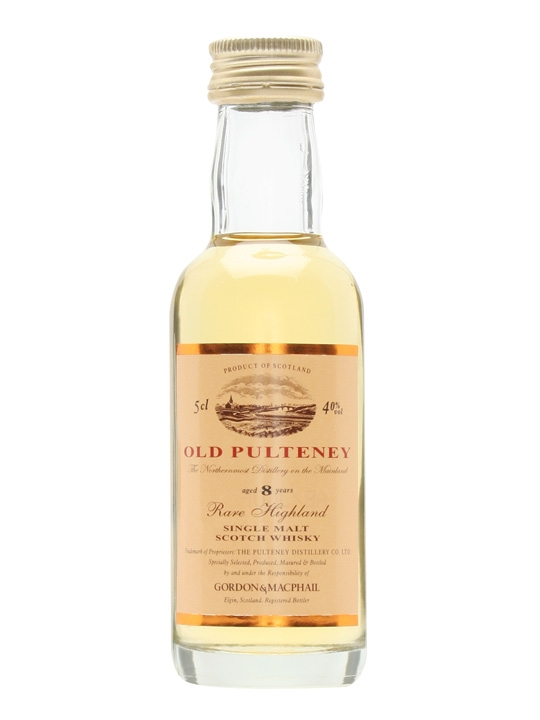 Old Pulteney 8 Year Old Miniature / Gordon & Macphail Highland Whisky
