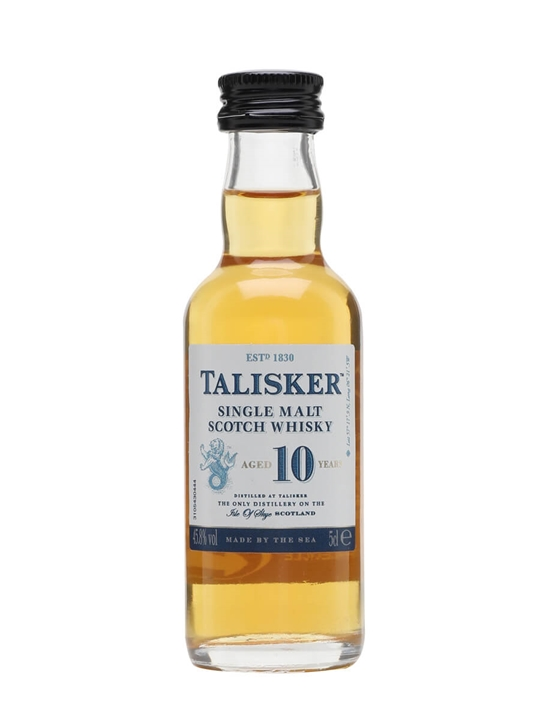 Talisker 10 Year Old Miniature Island Single Malt Scotch Whisky