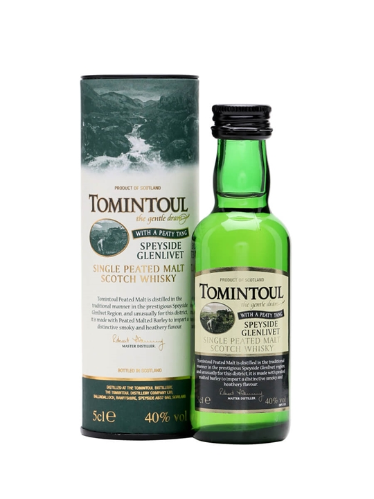 Tomintoul Peaty Tang Miniature Speyside Single Malt Scotch Whisky