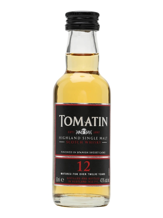 Tomatin 12 Year Old Miniature Speyside Single Malt Scotch Whisky
