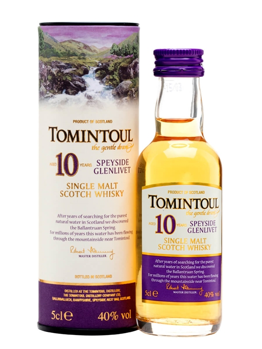 Tomintoul 10 Year Old Miniature Speyside Single Malt Scotch Whisky