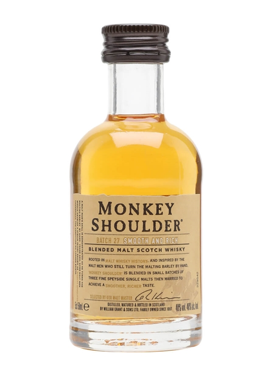 Monkey Shoulder Miniature Blended Malt Scotch Whisky
