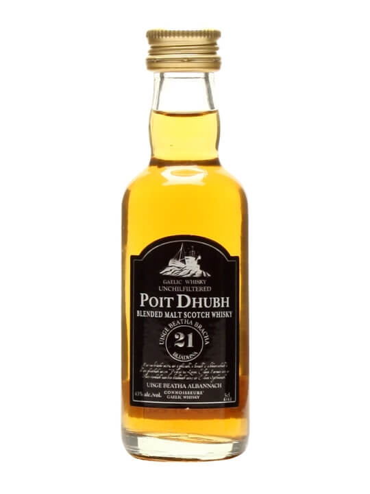 Poit Dhubh 21 Year Old Miniature Blended Malt Scotch Whisky