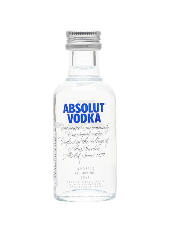 Absolut Blue Vodka Miniature