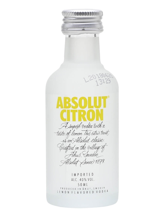Absolut Citron Vodka Miniature