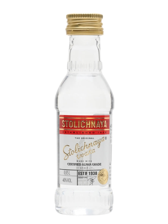 Stolichnaya Red Vodka Miniature