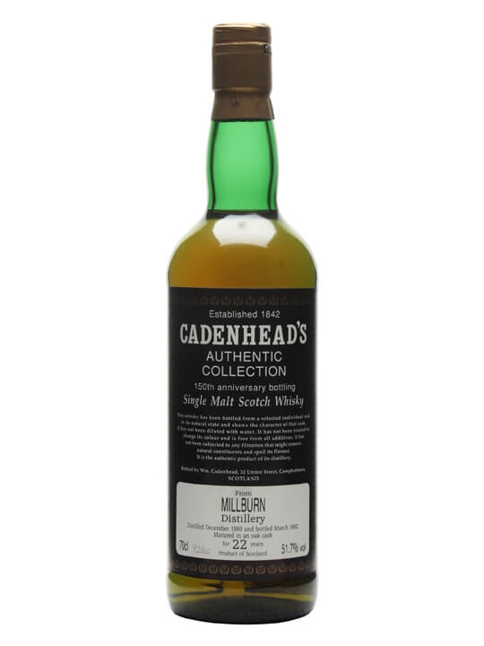 Millburn 1969 / 22 Year Old / Cadenhead's 150th Anniversary Highland Whisky