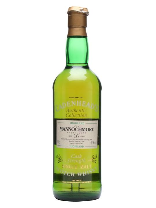 Mannochmore 1977 / 16 Year Old / Cadenhead's Speyside Whisky