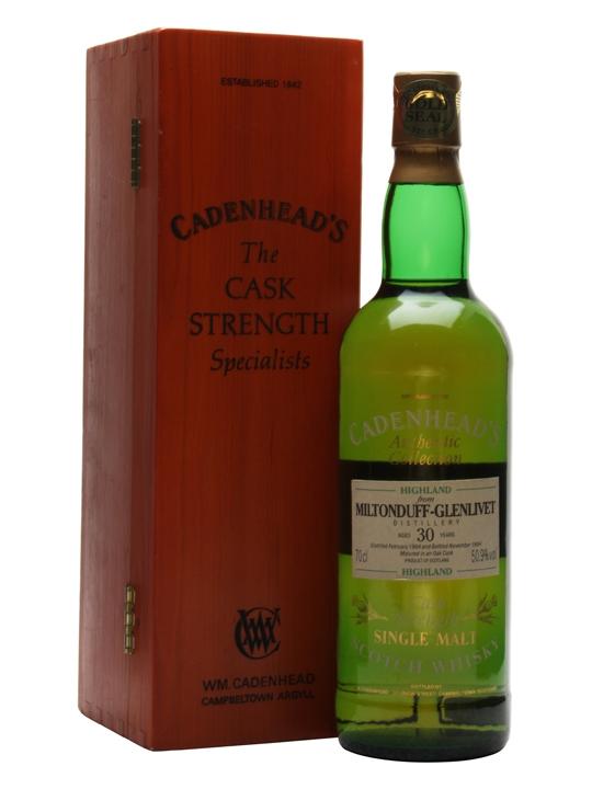 Miltonduff-glenlivet 1964 / 30 Year Old Speyside Whisky