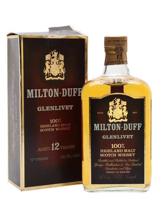 Miltonduff-glenlivet / Bot.1970s / Flat Bottle Speyside Whisky