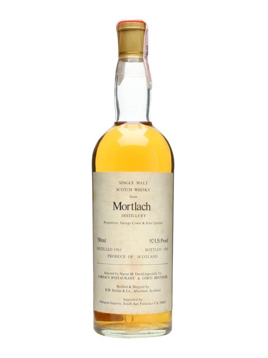 Mortlach 1961 / Bot.1983 / Duthies Speyside Single Malt Scotch Whisky