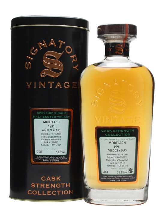 Mortlach 1991 / 21 Year Old / Sherry Butt #12/943 Speyside Whisky
